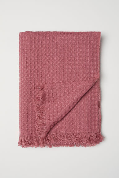 Waffled Throw - Dusty rose - Home All | H&M CA