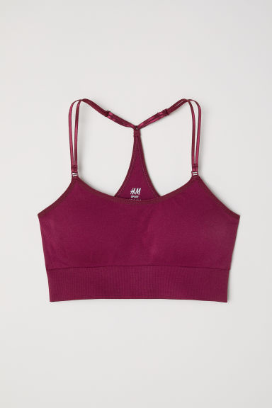 Sports bra Low support - Burgundy - Ladies | H&M