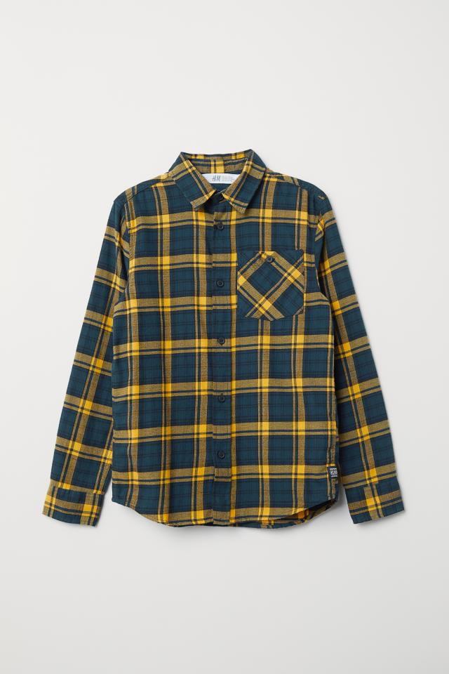 6a86b985b Checked Flannel Shirt - Red/plaid - Kids | H&M US