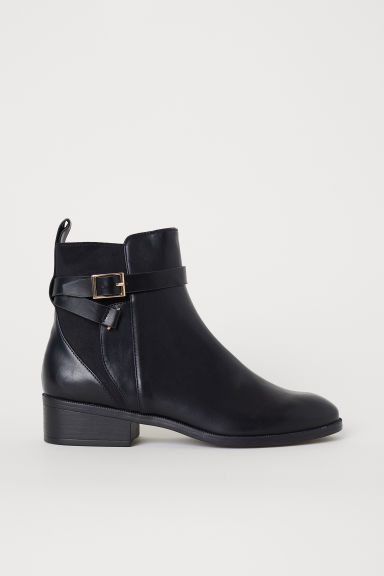Boots with straps - Black - Ladies | H&M