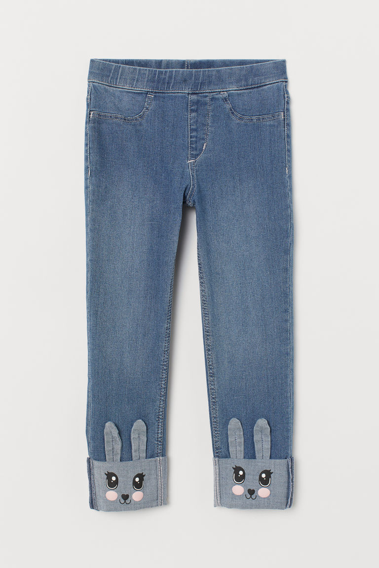 Leggings de denim - Azul denim/Conejos - Kids | H&M MX
