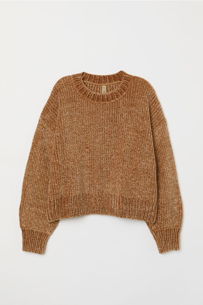 77c4b813935dde Rib-knit jumper - Light brown - | H&M 1