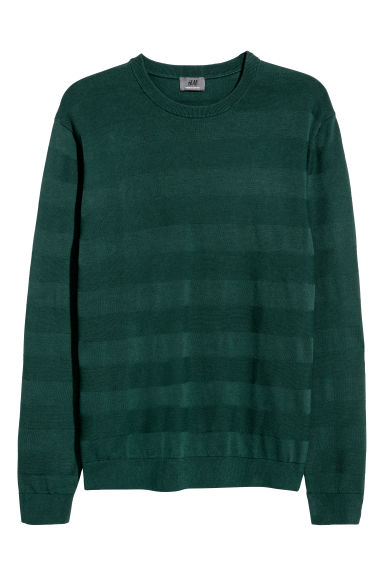 Premium cotton jumper - Dark green -  | H&M GB