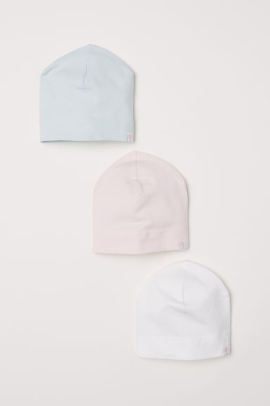 3-pack jersey hats - Light pink - Kids | H&M CN