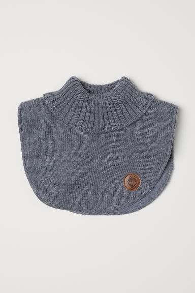 Knitted polo-neck collar - Grey marl -  | H&M CN