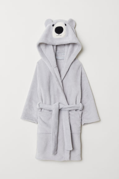 Dressing gown - Light grey/Bear - Home All | H&M GB