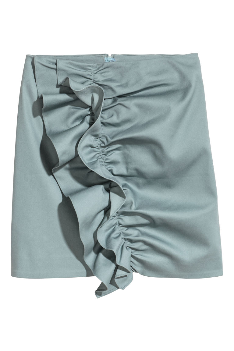 Flounced skirt - Light turquoise - Ladies | H&M