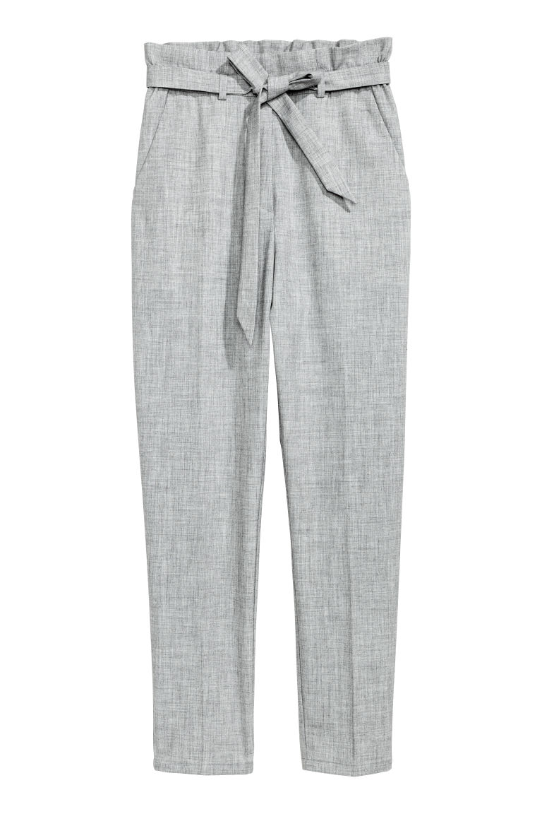 Wide trousers - Grey - Ladies | H&M CN