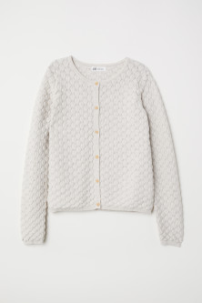 Textured-knit Cardigan