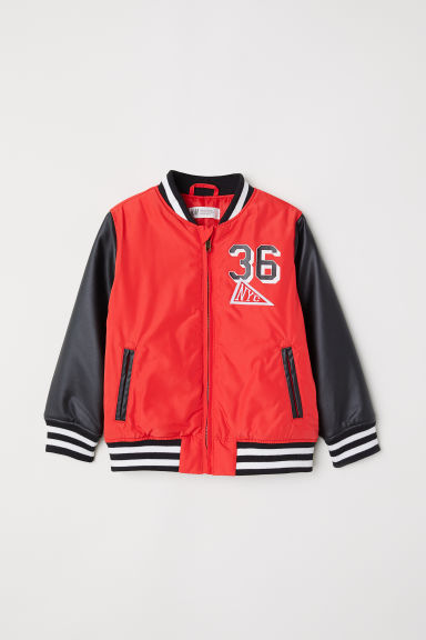 Baseball jacket - Red - Kids | H&M CN