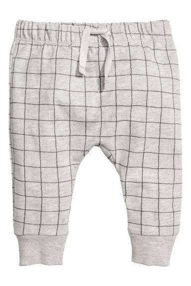 Jersey trousers - Grey/Checked - Kids | H&M CN