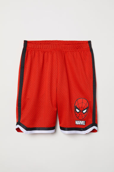 Basketball shorts - Red/Spider-Man - Kids | H&M CN