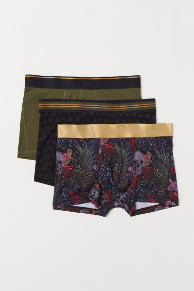 3-pack boxer shorts - Black/Patterned - Men | H&M CN