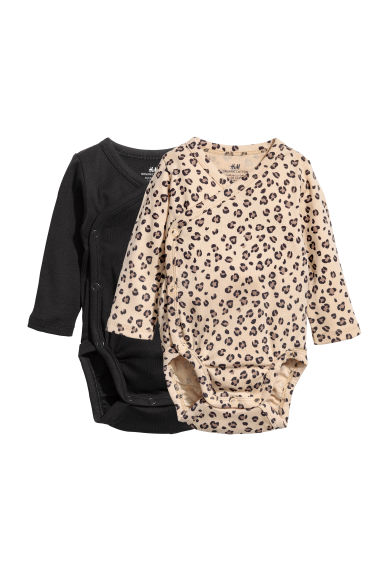 Body a maniche lunghe, 2 pz - Beige/leopardato -  | H&M IT