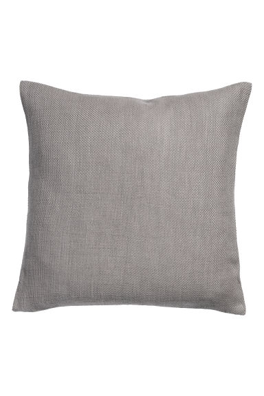 Textured-weave cushion cover - Grey - Home All | H&M CN