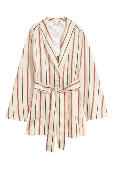 Satin jacket - Natural white/Striped - Ladies | H&M IE