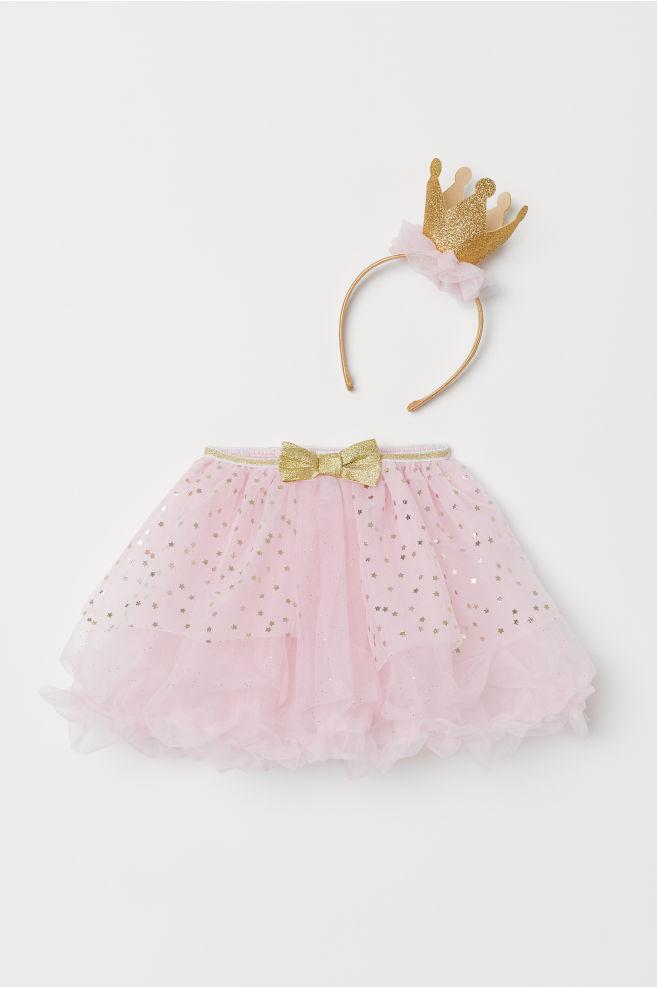 8ff39fbb95 Falda de tul y diadema - Rosa claro - NIÑOS