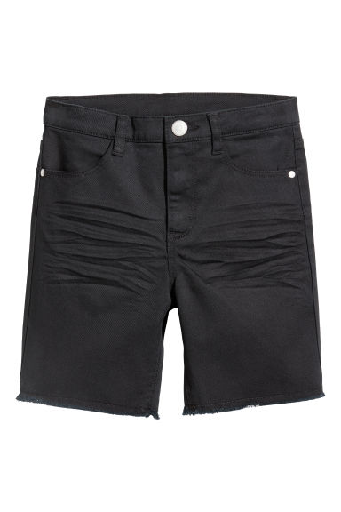 Twill shorts - Black - Kids | H&M