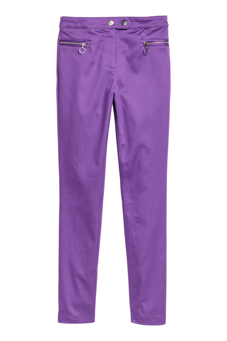 Stretch trousers - Purple - Ladies | H&M