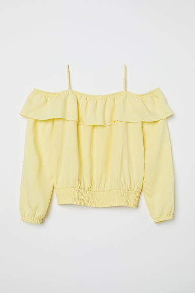 Cold shoulder blouse - Light yellow - Kids | H&M