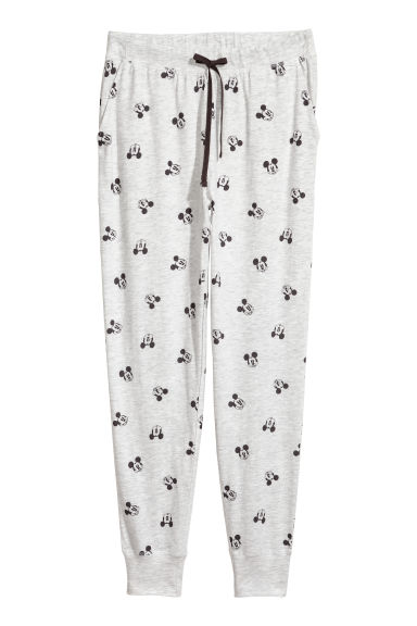 Pyjama bottoms - Light grey/Mickey Mouse -  | H&M GB