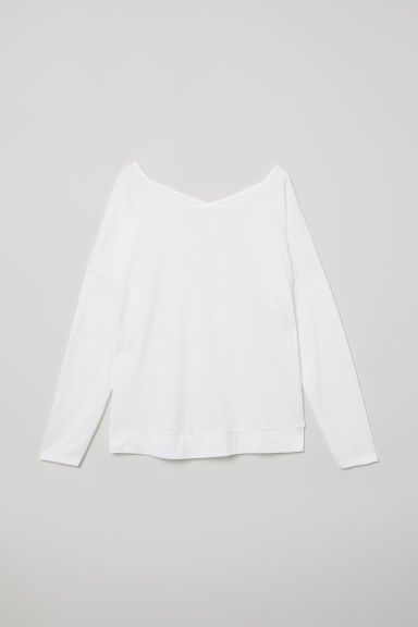 Yoga top - White - Ladies | H&M CN