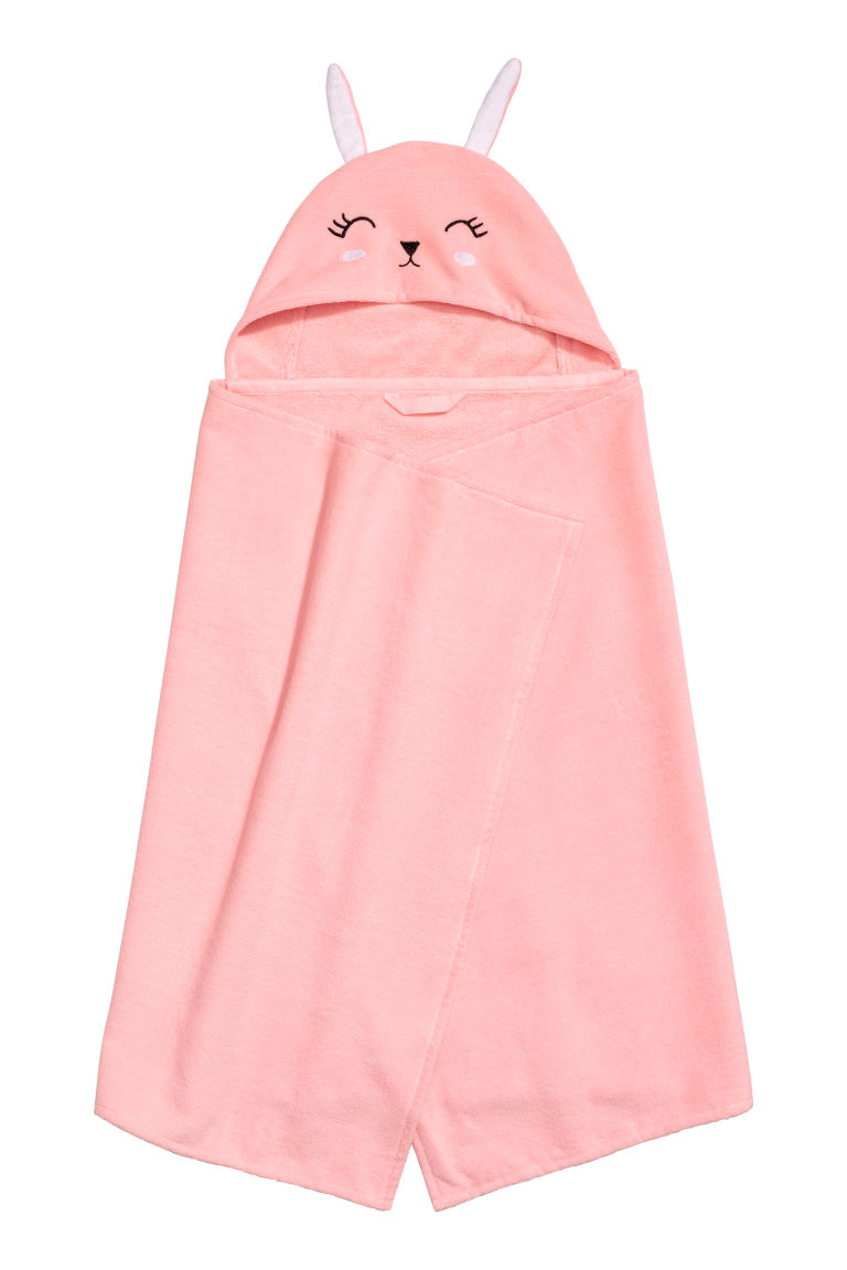 Hooded bath towel - Light pink - Home All | H&M CN