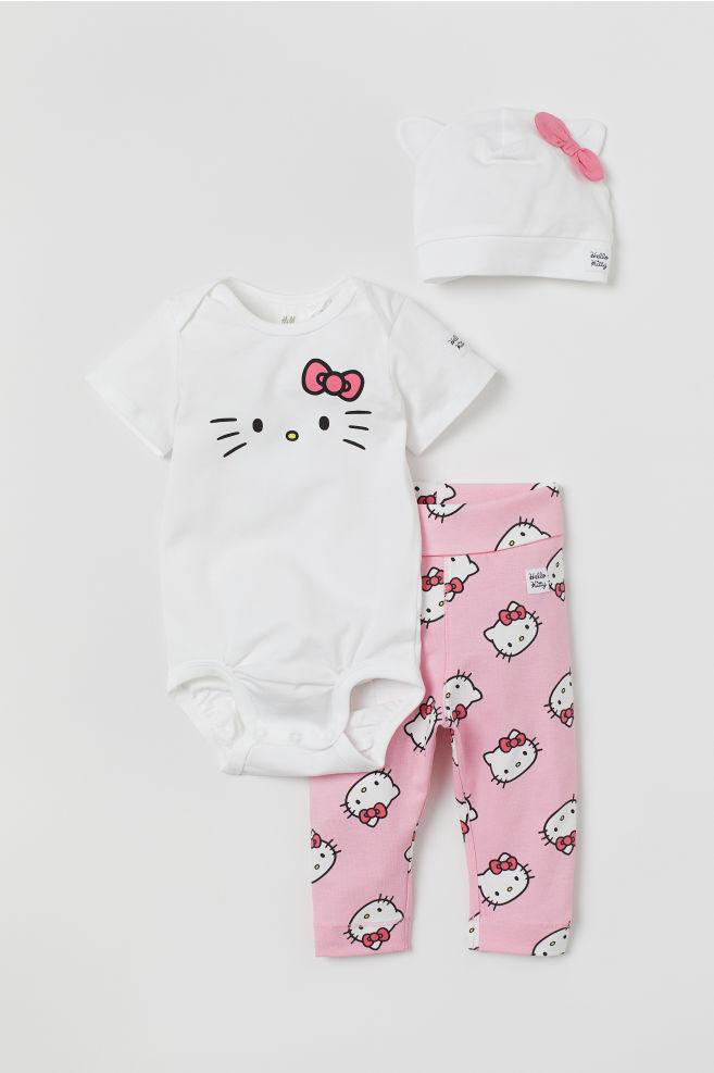 802e2f67 3-delt trikotsett - Pink/Hello Kitty - BARN | H&M ...