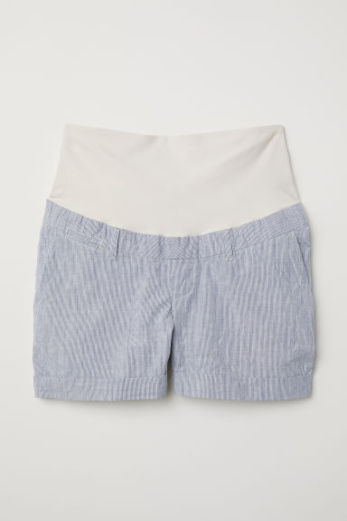 MAMA Chino shorts - Light blue/White striped - Ladies | H&M