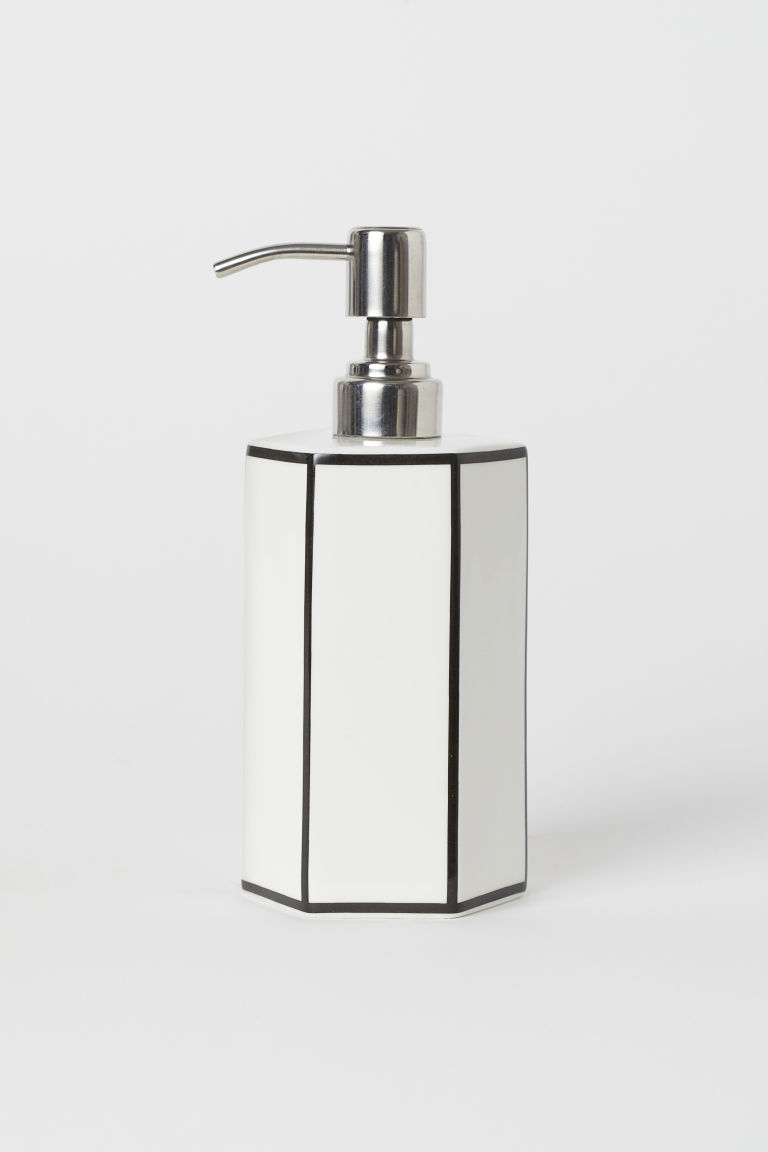 Porcelain soap dispenser - White - Home All | H&M CN