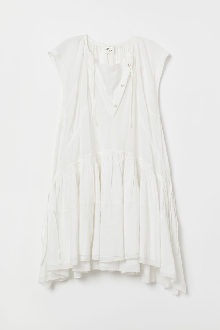 Cotton dress - White - Ladies | H&M
