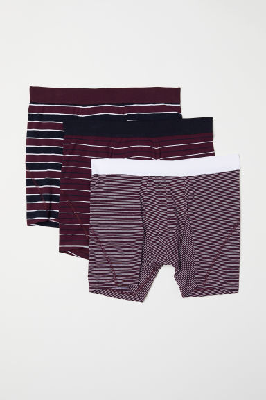 3-pack mid trunks - Purple/Multicoloured - Men | H&M CN
