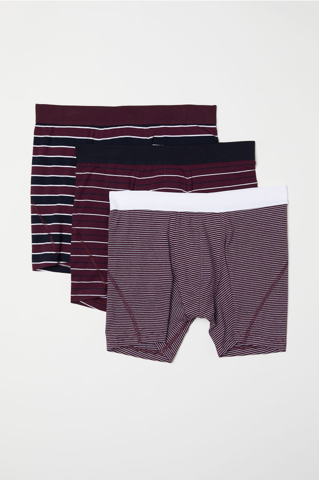 901307e59e 3-pack mid trunks - Purple Multicoloured - Men