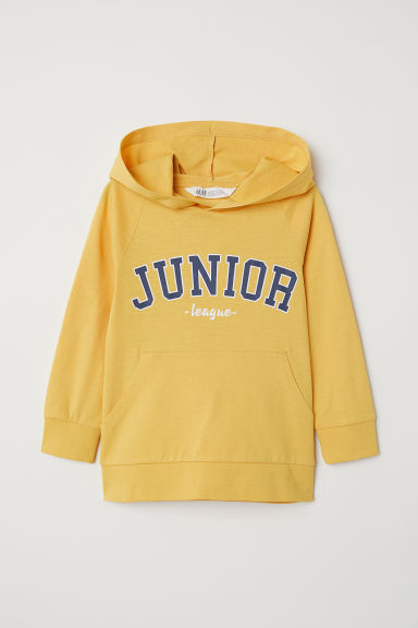 Hooded top - Yellow/Junior - Kids | H&M