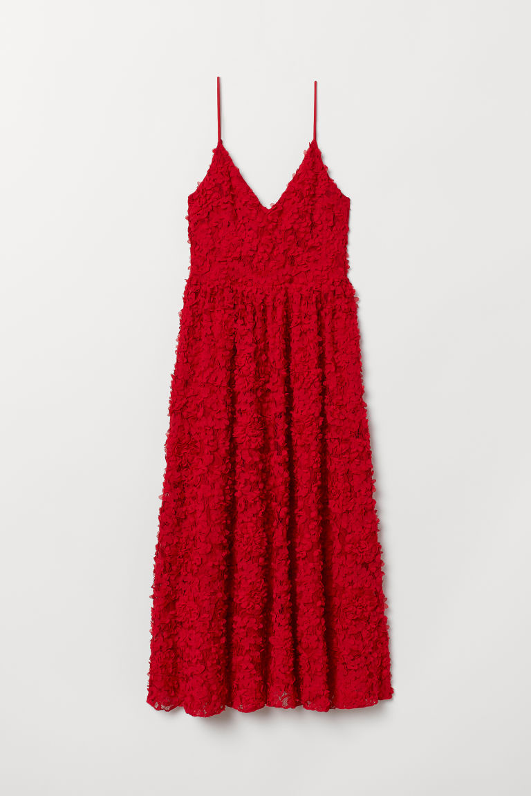 Dress with appliqués - Red - Ladies | H&M