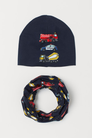 Hat and tube scarf