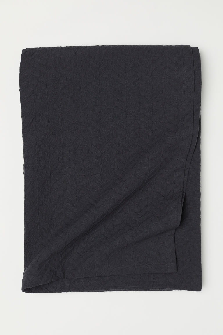 Jacquard-weave bedspread - Anthracite grey - Home All | H&M CN