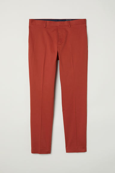 Pantalon de costume Skinny fit - Orange foncé -  | H&M FR