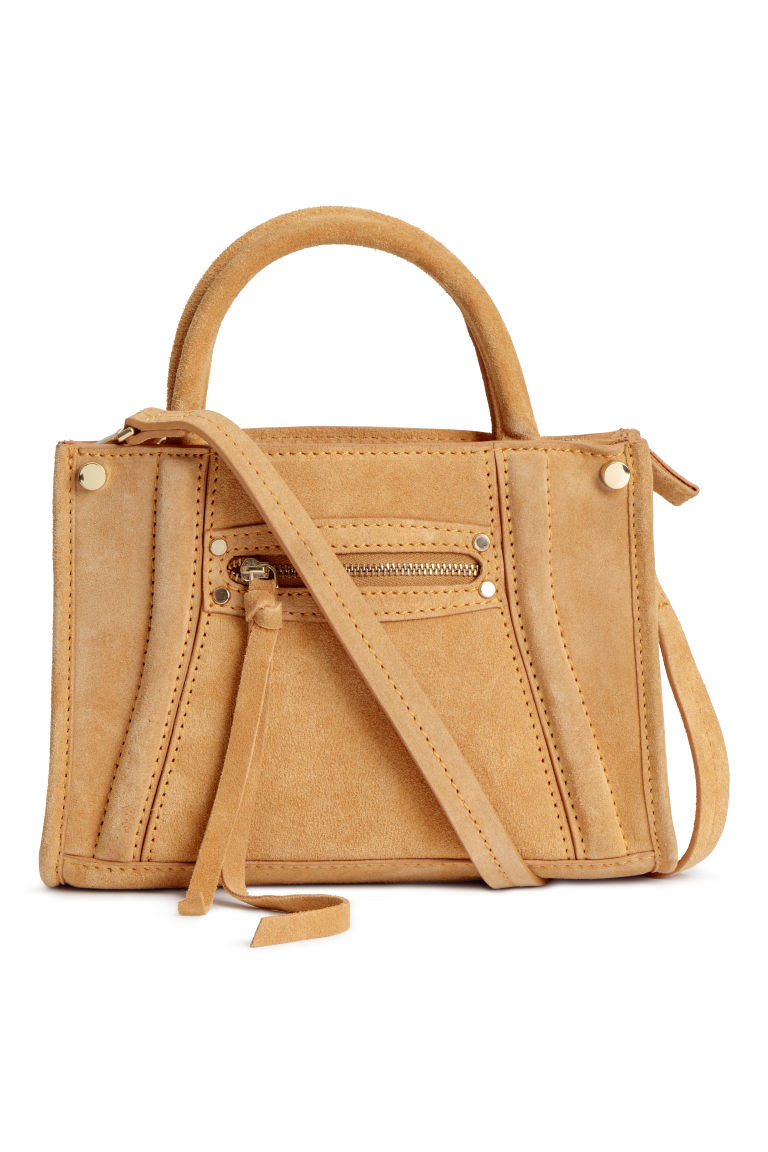 Suede shoulder bag - Mustard yellow - Ladies | H&M GB