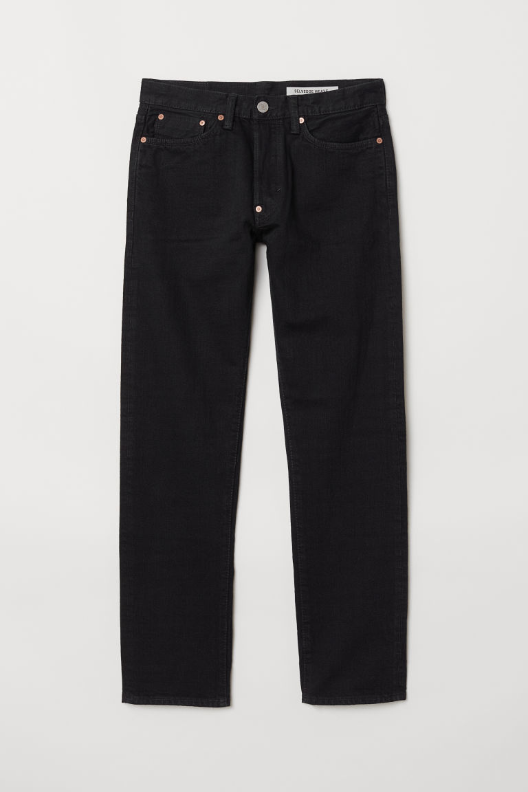 Straight Selvedge Jeans - Blu scuro - UOMO | H&M IT