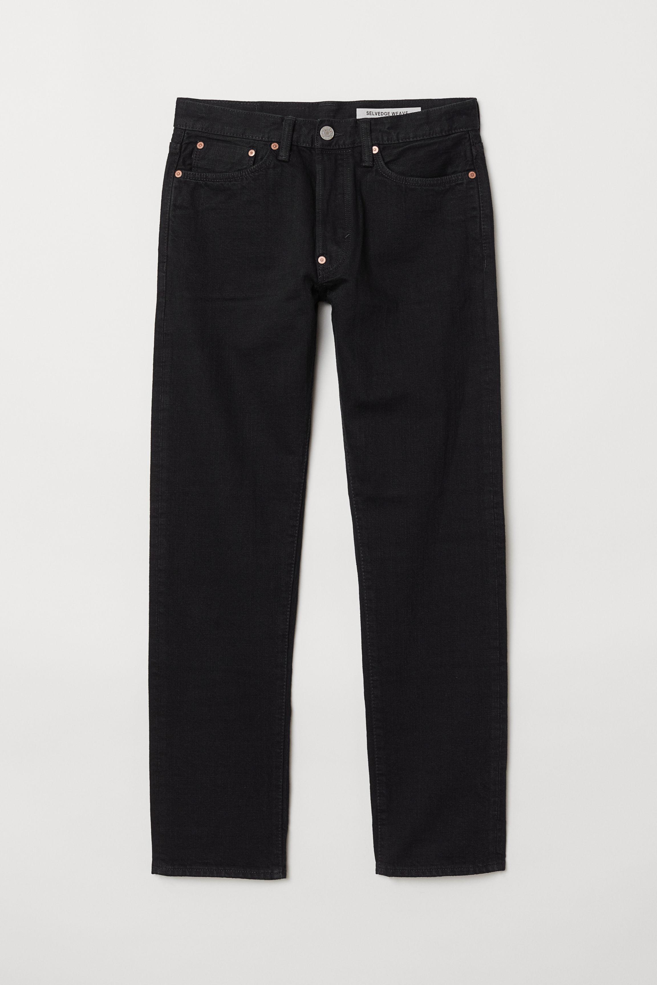 09d7eb5a566 Straight Selvedge Jeans - Dark denim blue - Men