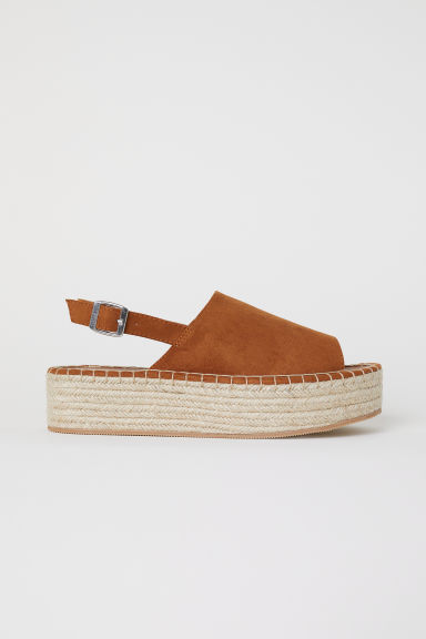 Platform sandals - Camel - Ladies | H&M IE