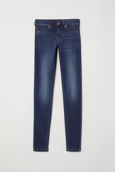 Super Soft Low Jeggings - Mörk denimblå/Tvättad - DAM | H&M SE