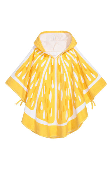 Hooded towel - Yellow/Citrus -  | H&M CN