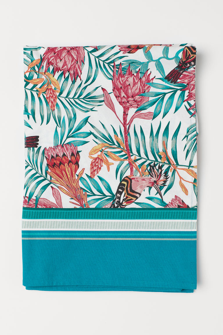 Mantel estampado - Turquesa/Estampado -  | H&M MX
