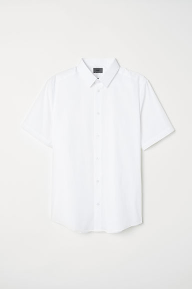 Camicia stretch maniche corte - Bianco - UOMO | H&M IT