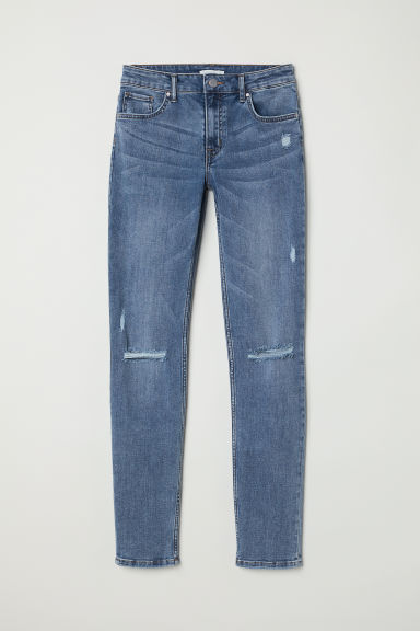 Skinny Regular Jeans - Denimblauw - DAMES | H&M BE