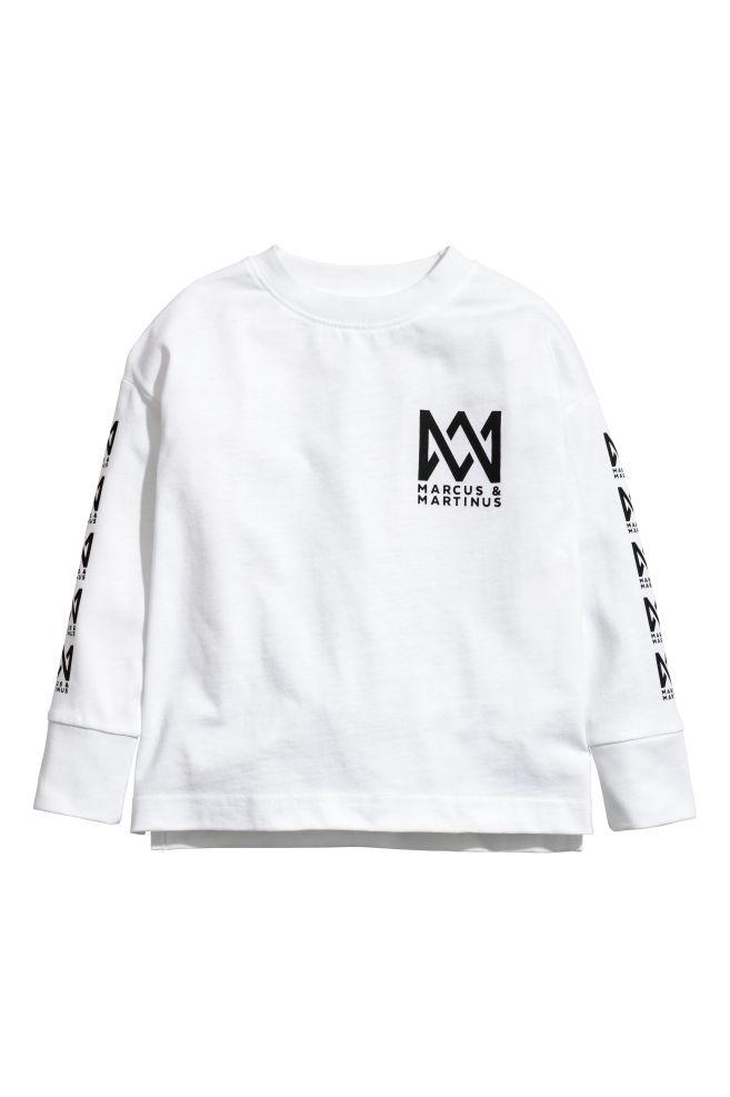 Jerseyshirt Mit Druck Weissmarcus Martinus Kinder Hm Ch