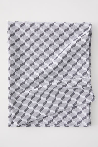 Jacquard-weave tablecloth - Grey - Home All | H&M CN