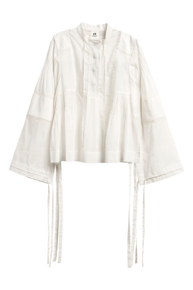 Cotton blouse - Natural white - Ladies | H&M